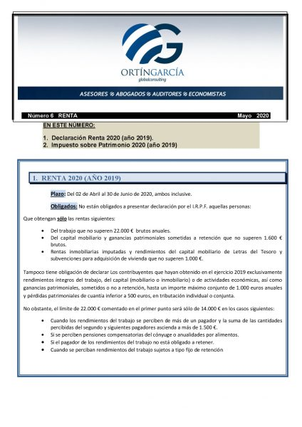 circular renta espaÑol 2020